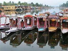 Kashmir, Srinagar....Dal Lake...stayed in one of the houseboats in the background.  What a lovely place!