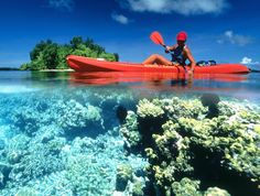 Glide across Bermuda's turquoise waters on the 3.5-hour, guided Kayak Eco Tour. The kayaks have glass-bottom viewing areas, so you can see the incredible view of the colourful undersea life.
