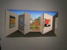 """Outstanding contemporary artist, Patrick Hughes, had a number of amazing paintings at the 2008 LA Art Show. Here is one: """"Stabile Doors"""" This fellow. Magic House, Perspective Art, La Art, Learning Time, 3d Painting, Contemporary Artists, Illusions, Brain, Science"""
