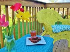 painted wicker furniture - Google Search