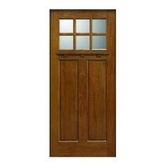 Main Door, 36 in. x 80 in. Craftsman Collection 6 Lite Prefinished Walnut Solid Mahogany Type Wood Front Door Slab, SH-706-WA at The Home Depot - Mobile