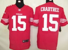 Nike San Francisco 49ers #15 Michael Crabtree Red Elite Jersey