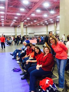 #15 Parents section at #lsc2014 in Dallas ! Cheering for the Edge & wearing red for diabetes awareness day! #youcouldwin