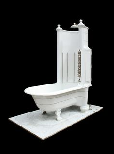 RARE ROYAL DOULTON CANOPY / SHOWER BATH WITH MARBLE BASE - UK Architectural Heritage
