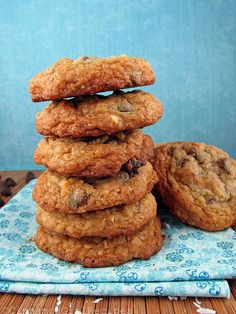 Chocolate Chip Coconut Crunch Cookies