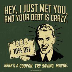 Image result for debt funny