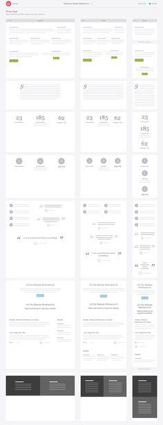 Responsive Website Wireframe Kit – UX Kits