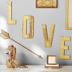 PB Teen Love Sequin Letters at Pottery Barn Teen - Decorative Wall... ($50) ❤ liked on Polyvore featuring home, home decor, wall art, oversized wall art, quote wall art, typography wall art, word wall art and home wall decor