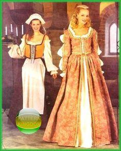 Elizabethan Renaissance Costume Patterns McCalls 2793