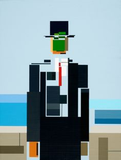 Classic paintings, cubed: Artist Adam Lister's video game-inspired art history Most Famous Paintings, Famous Artwork, Classic Paintings, Famous Artists, Pop Art, 8 Bits, Geometric Poster, Magritte, Oeuvre D'art