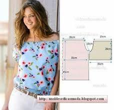 Resultado de imagen para moldes de blusa campesina para descargar gratis