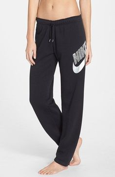 Nike+'Rally'+Sequin+Logo+Sweatpants+available+at+#Nordstrom
