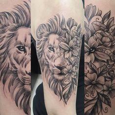 Dobles estilos, León  tattoo.