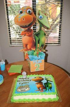 Dinosaur Train Birthday Party Centerpieces @ playpatterns.net