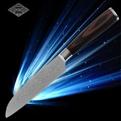 XYJ Japanese cook's knife 5 inch high quality damascus style kitchen knives new design with color wood handle cooking tools