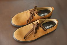 Men's casual fashion Swede leather oxfords, pure handmade ,made to order from…