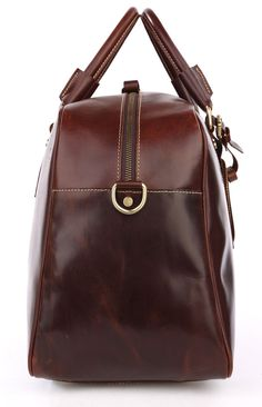 Andy Saddle Leather Holdall Travel Bag - Copper Brown