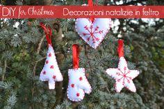 DIY Decorazioni natalizie in feltro - DIY felt Christmas ornaments