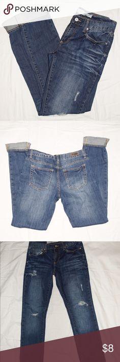 Charlotte Russe Slouchy Slim Jeans Charlotte Russe Slouchy Slim Jeans. Dark wash. Last picture depicts color the best. Size 4. 99% cotton, 1% spandex Charlotte Russe Jeans Boyfriend