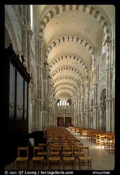 Church of Vezelay. Burgundy, France.