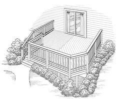 Eplans Deck Plan - Compressed But Not Confining from Eplans - House Plan Code HWEPL74914
