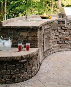 Outdoor kitchen inspiration. (Belgard pavers)