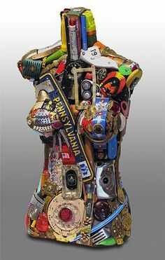 Leo Sewell, Torso, mixed media assemblage, 25 X 13 X 8 inches Found Object Art, Found Art, Mannequin Art, Mannequin Torso, Trash Art, Mixed Media Sculpture, Statues, Collage Techniques, Assemblage Art