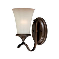 Cascadia Lighting�Sonora 5.5-in W 1-Light Venetian Bronze Arm Hardwired Wall Sconce