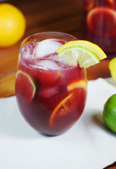 refreshing taste, sangria is a great go-to drink for any get-together. When it comes to the lazy days of summer, easy, big-batch cocktails like this fruity sangria rule. Best Sangria Recipe, Sangria Recipes, Cocktail Recipes, Homemade Sangria, Drink Recipes, Limoncello Cocktails, Wine Cocktails, Cocktail Drinks, Refreshing Drinks