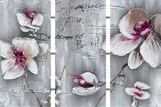 """Schilderij """"Drieluik orchideeën"""" te koop @Betaalbarekunst.nl"""