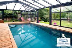 Un abri haut pour #piscine à Paris : un bon compromis pour Marinette et Eric...