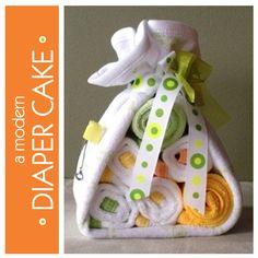 Diaper cake stork bundle