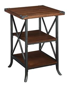 Shop a great selection of Convenience Concepts Brookline End Table, Dark Walnut / Slate Gray Frame. Find new offer and Similar products for Convenience Concepts Brookline End Table, Dark Walnut / Slate Gray Frame.