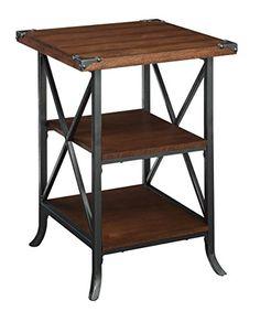 Convenience Concepts 111845DWN Brookline End Table, Dark Walnut