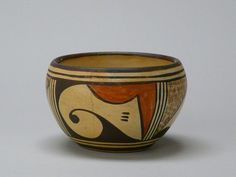 Hopi Pueblo, n.d.; purchased in Hopi pueblo; earthenware, slips; Gift of Frieda Bradsher 2007.2.0112