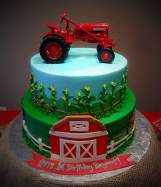 Farmall Tractor Cake by Blue Cake Co. Little Rock, AR