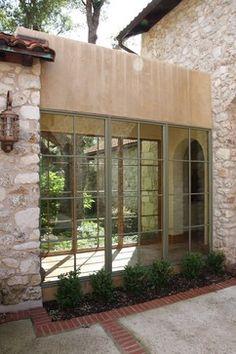 gallery from interior courtyard - mediterranean - exterior - austin - Rick O'Donnell Architect
