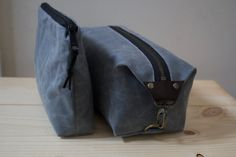 Here's a lovely gift for a couple, a matching #DoppKit and zipper bag, both #WaxedCanvas. https://www.etsy.com/listing/209234425/mens-dopp-kit-and-zipper-pouch-set?ref=shop_home_active_5