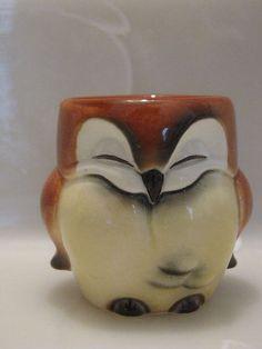 Vintage Goebel Owl Figurine West Germany Porcelain Egg Cup