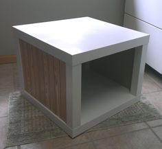 Materials: LACK x 2 We had 2 Lack tables that we were not using and wanted a coffee table with inside storage… We decided to re-use the lack and see what we could do with this. We combined the 1 full Lack table and one top (that was to become the base) with some wood [&hellip