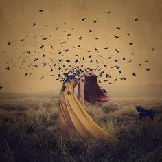 Abstract creative photography | Beautiful photos by Brooke Shaden symbolize her 14 year struggle with Fibromyalgia.