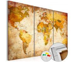 Tablica korkowa ozdobna Antyczne podróże [Mapa korkowa]
