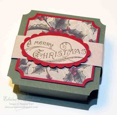Elaine's Creations: Christmas Ghirardelli Chocolate Boxes