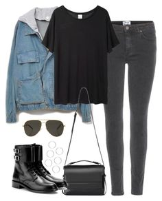 """""""Untitled #4834"""" by eleanorsclosettt ❤ liked on Polyvore featuring Acne Studios, Base Range, AllSaints and Yves Saint Laurent"""