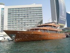 "Panoramio - Photo of A millionaire layed his wooden yacht the ""Touch Wood"" in the creek of Dubai"
