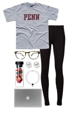 """sick day ://"" by alexisfloyd ❤ liked on Polyvore featuring Splendid, Warby Parker and Nouv-Elle"