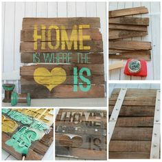 Rustic Home is Where the Heart Is / 12 DIY Signs That Just Say It All (via BuzzFeed)
