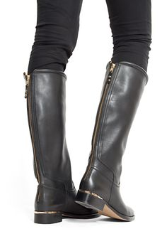 Topshop Percival Cut Out Riding Boots | Shoe Heaven | Pinterest ...