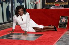 Actress Viola Davis is honored with her star on the Hollywood Walk of Fame ceremony in Hollywood, on January 5, 2017. / AFP / CHRIS DELMAS