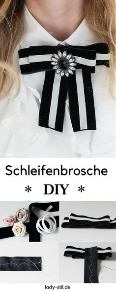 Schleifenbrosche Mode DIY Lista com dicas e tutorias de: Diy Ribbon, Ribbon Bows, Diy Fashion Projects, Diy Mode, Do It Yourself Fashion, Diy Fashion Accessories, Mode Blog, Vintage Diy, Fashion Tips For Women